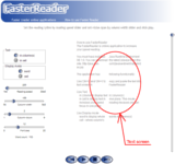 Text presenter - online application